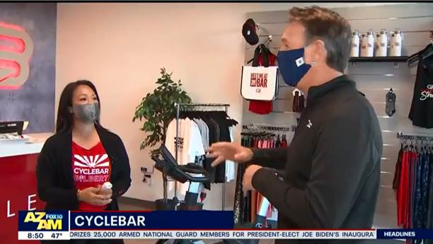 <span>Thank you FOX 10 for supporting and featuring our local studio and franchisees in Gilbert, AZ! CycleBar Gilbert has reopened responsibly with stringent cleaning procedures & additional safety precautions.</span>